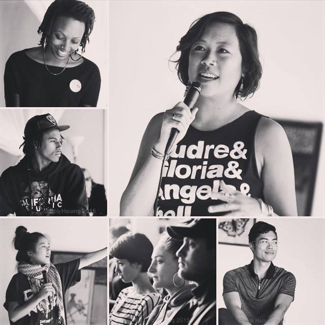 Beautiful portraits by Bob Hsiang at CULTURES OF RESILIENCE event on Saturday. Clockwise from top right: Celi Tamayo-Lee @celerytomatopea led us in a grounding exercise, panelist Kai Kāne Aoki Izu @quaintkk, audience members (including our J-Tell/Choreographer, Ayana Yonesaka), Eryn Kimura @erynkimura hosted and facilitated the dialogue, Kaly Jay @kaly_jay talkin' truth, and Tanea Lundsford of #blacklivesmatter & #blackbrunch!!! 🙌 #suitejtown #Resilience #portraits #activists #art #japantown #sfjapantown