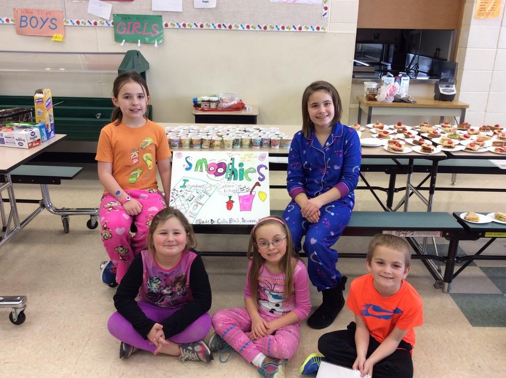 Health Week Final Tasting -Smoothie Group Showcasing their treats before the school tasting!