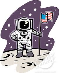 Astronaut picture with American Flag