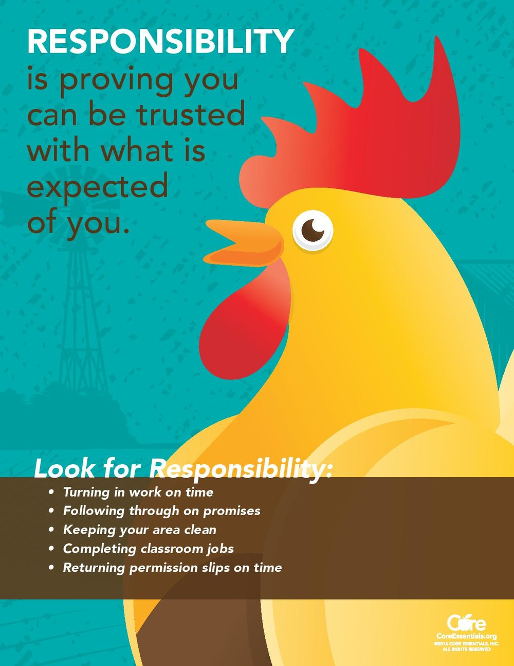 September Core Essential Virture - Responsibility!