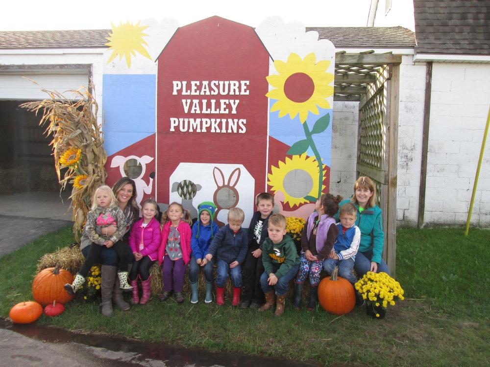 4k class at pleasure valley pumpkins