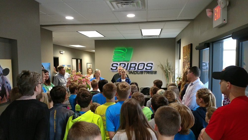 3-5th Grade Spiros Partnership - Our students were working on a manufacturing & supply chain project! Spiros worked with our students by inviting them for a field trip to their facilities.