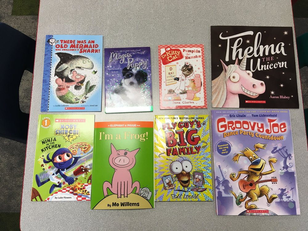 Books donated from PTO