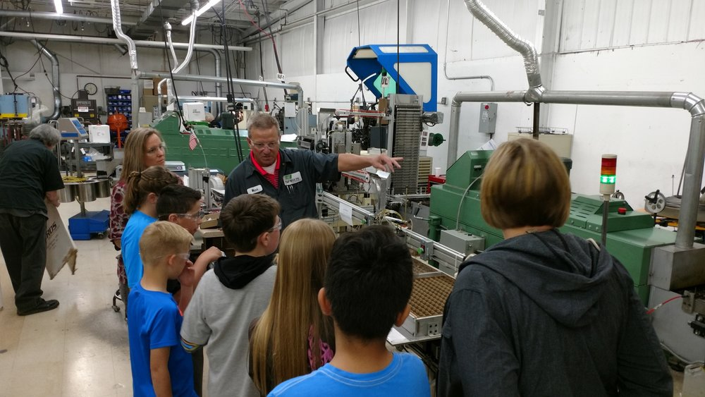 Student toured Spiros during their Manufacturing Project