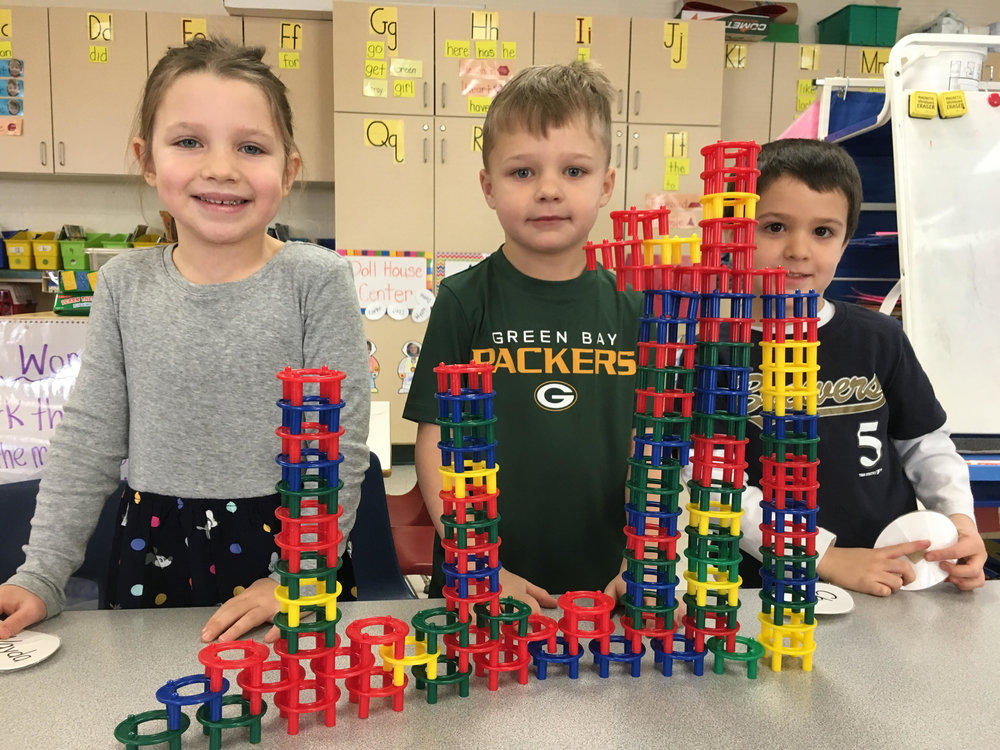 building towers during play time