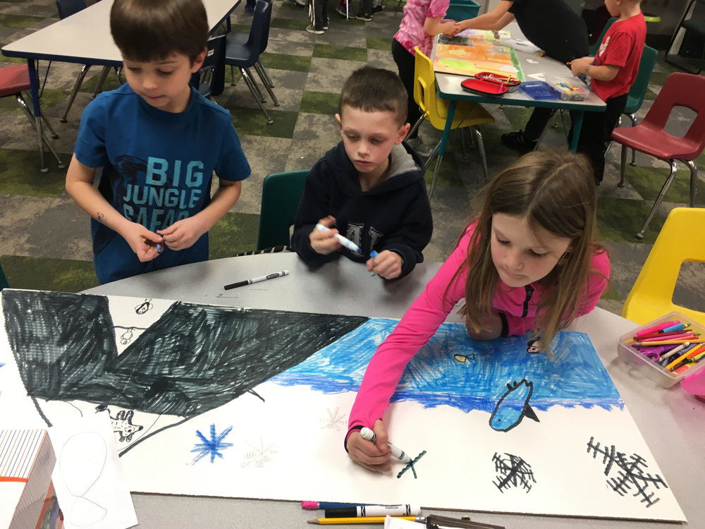 designing a background for their habitat