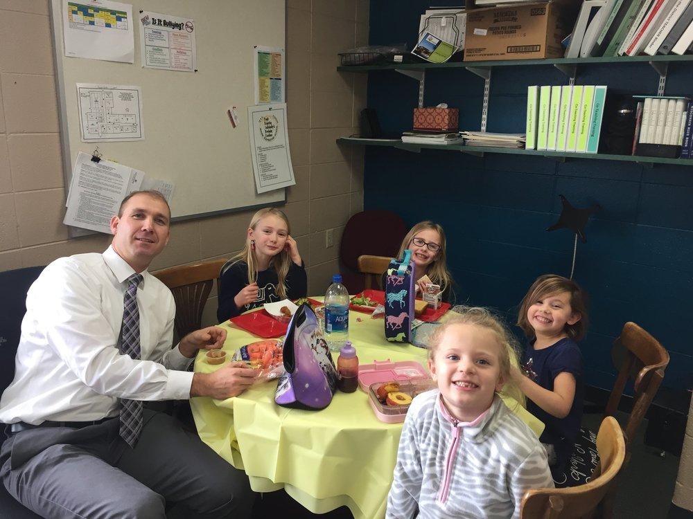 """PBIS January """"Lunch w/ Mr. Flood"""" Winners!"""