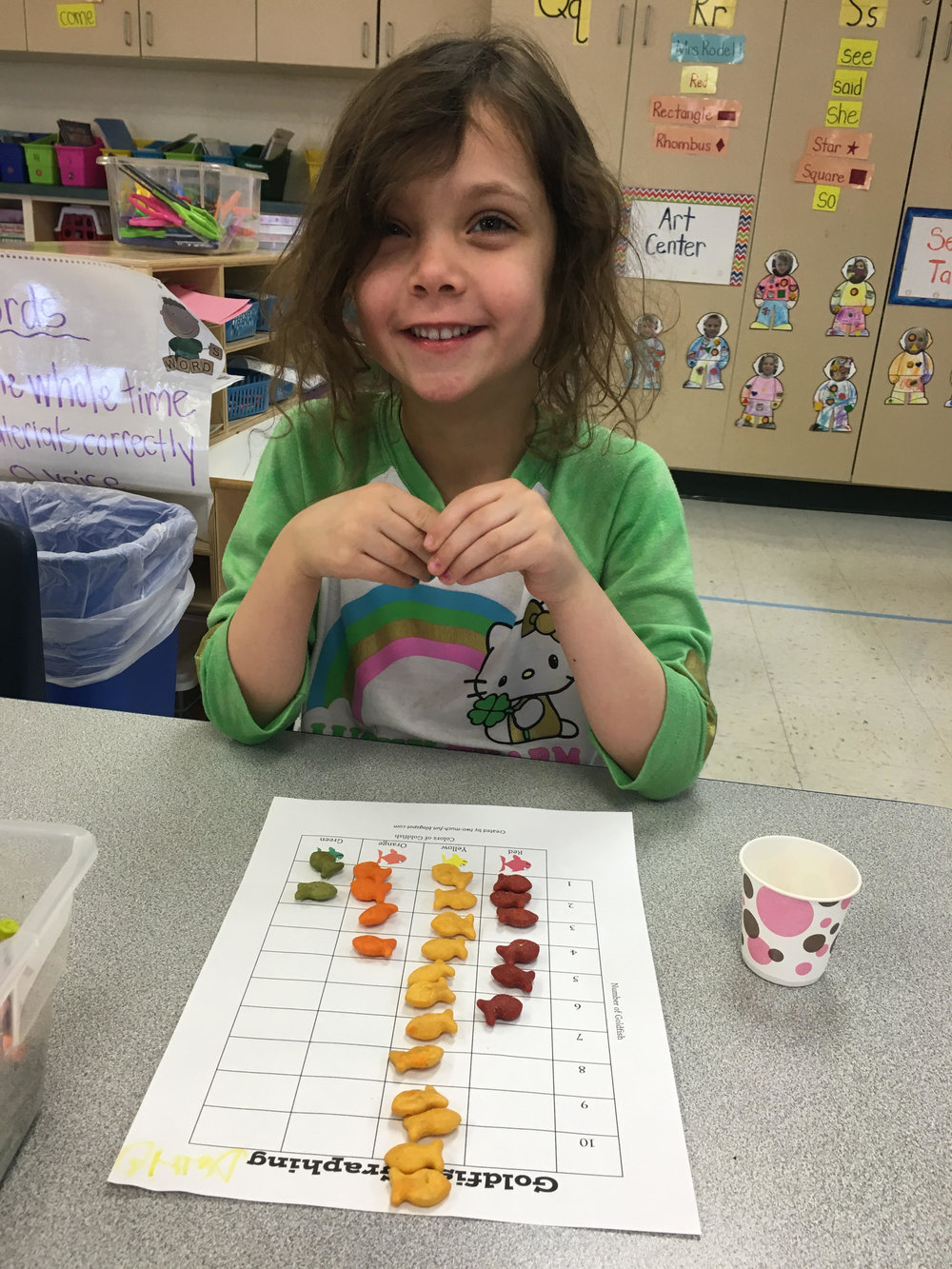Sorting goldfish for one fish, two fish, red fish, blue fish