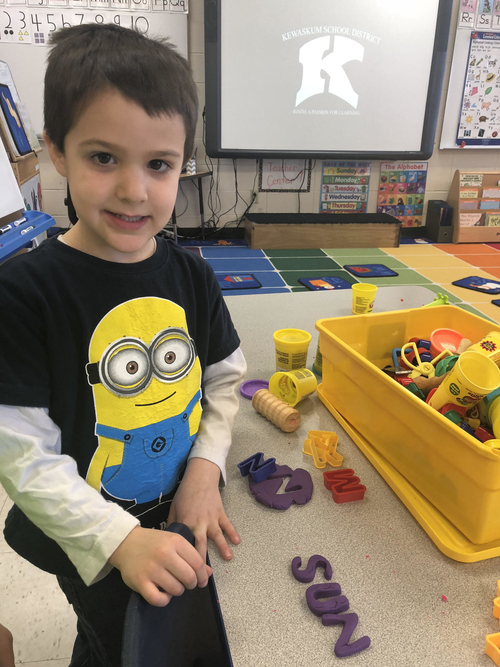 practicing cvc words with play doh