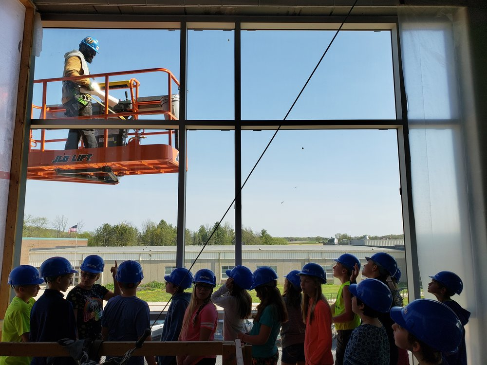 5th Grade Students Toured the new KMS Building on Friday 5/18