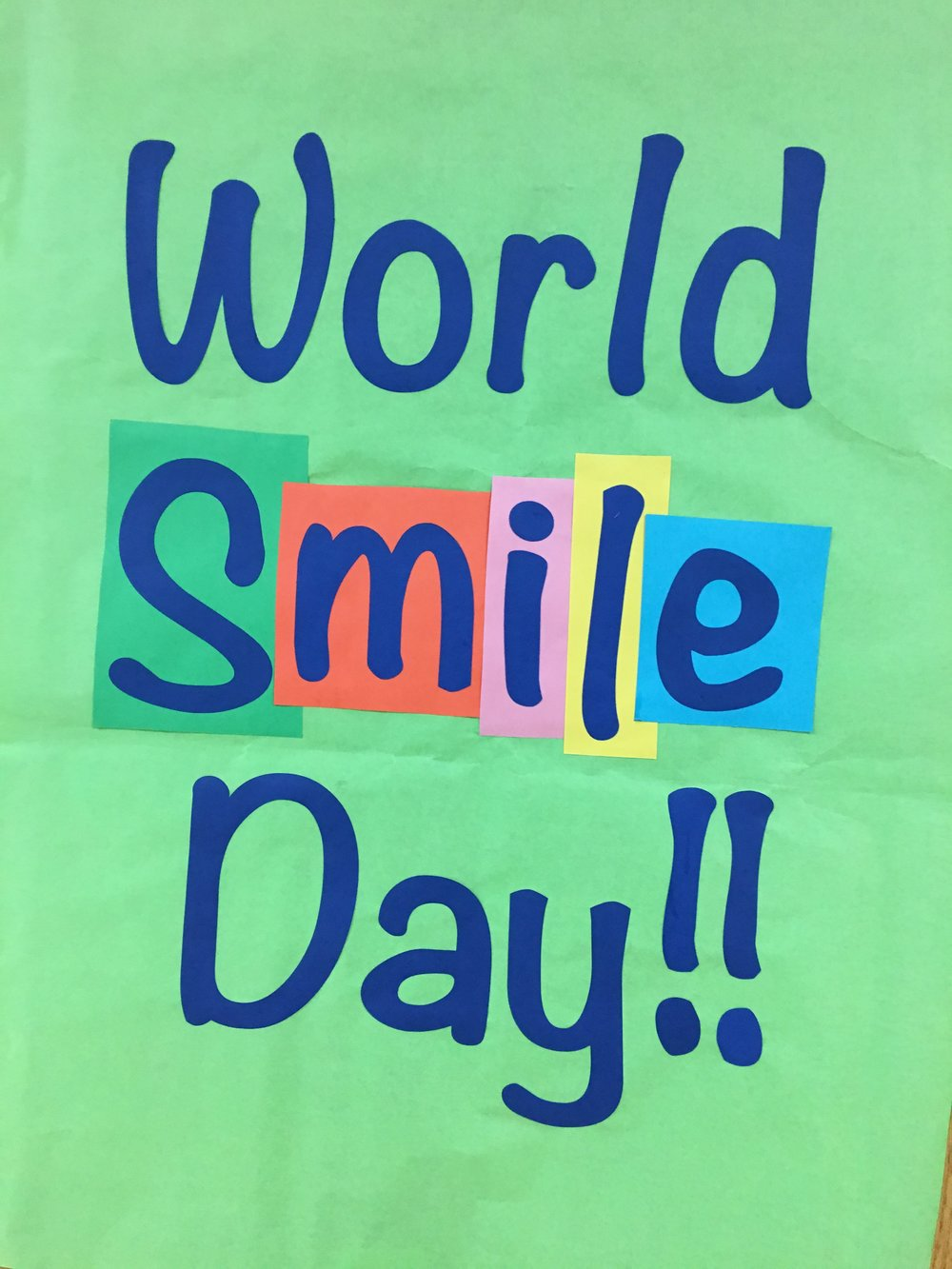 World Smile Day Today! Did you know…smiling boosts your immune system and it takes 5-53 muscles to smile!