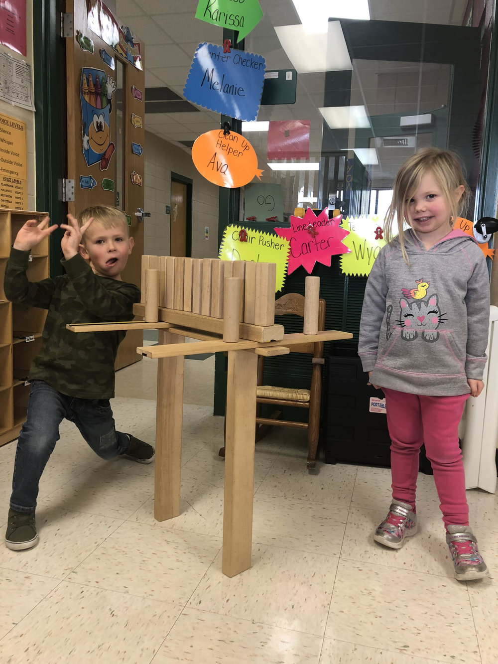 playing with blocks at playtime