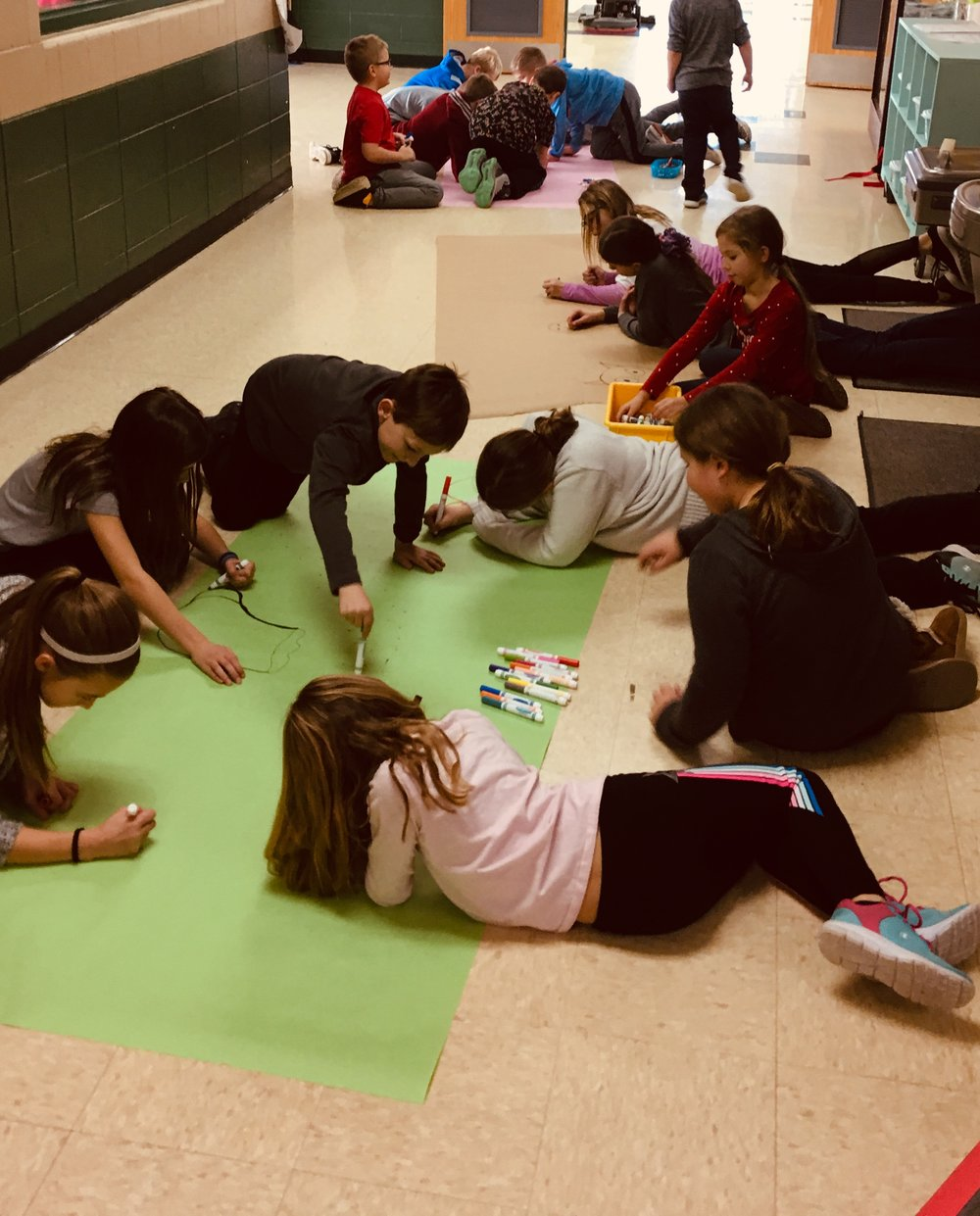 """Student met their PBIS December Hallway Expectations Goal! They enjoyed a """"Drop Everything and Draw Prize""""!"""