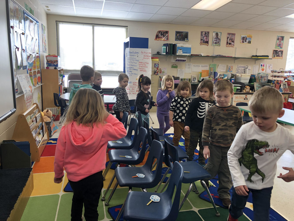 playing musical chairs