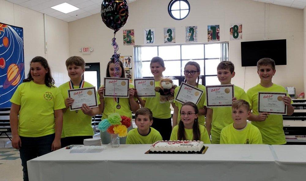 Congrats to our 2019 5th Grade DARE Graduates!