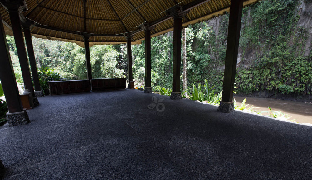 Our yoga pavilion at the resort in Ubud