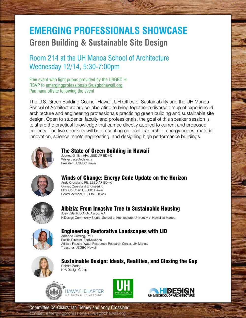 Calendar us green building council hawaii chapter emerging professionals showcase xflitez Gallery