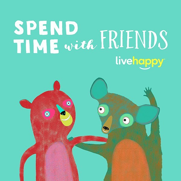 Tag your bestie! 💕#happyacts _ Research shows that spending time with friends makes a big difference when it comes to happiness. Social time is especially important for your well-being (even for you introverts out there). So while money can't buy happiness, spending time with the ones you love is always a good investment!