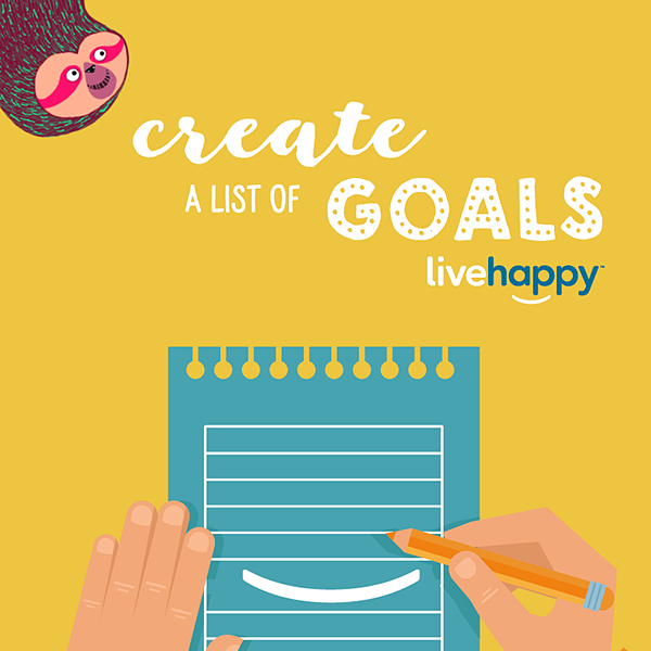 Good things take time. Create a list of long-term goals or make a happiness board to refer to when you need a pick-me-up. 📝❤️#mondaymotivation #happyacts