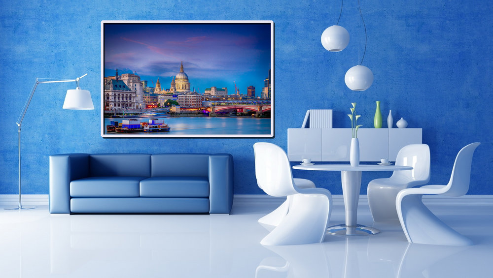 A very modern Interior Design that shows how Five Art Photography can compliment any look!