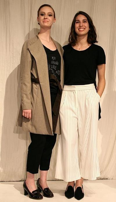Noémie Giasson, gagnante du Concours 2016, avec la mannequin portant son manteau