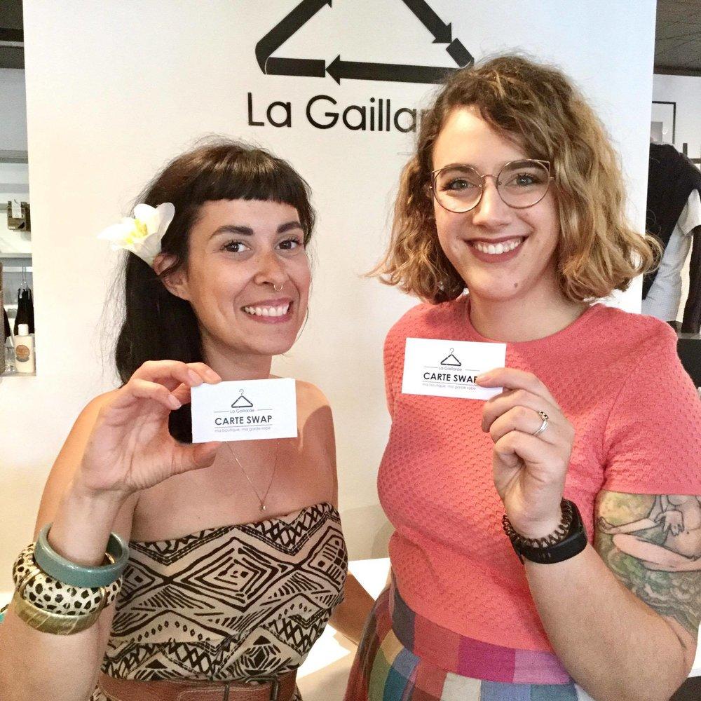 Steph et Régine, du blogue Ton Petit Look, ont adopté le service de carte Swap Gaillarde...
