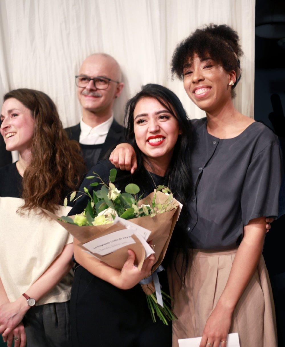 La gagnante du Concours Marque Gaillarde 2018, Daniela Salinas-Lara, bouquet de fleurs écoresponsables par Prairies