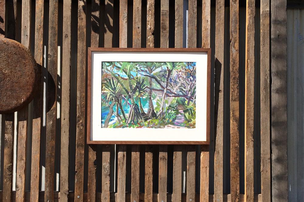 Artist: Elizabeth Gair Palmer | Frames made from recycled hardwood