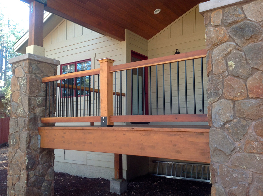 Deck and railing staining