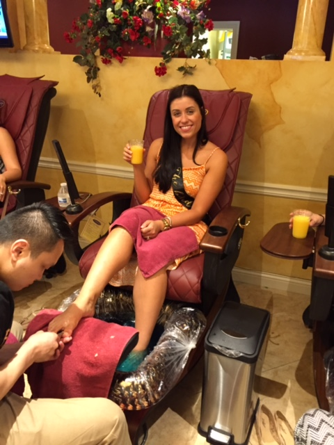 The Bride getting her nails ready for the big day.