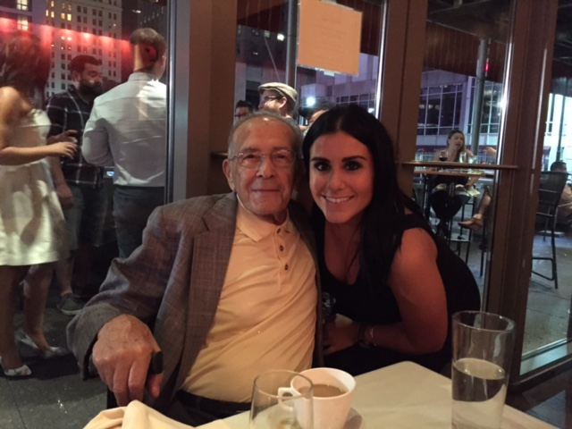 Rehearsal dinner with Grandpa.