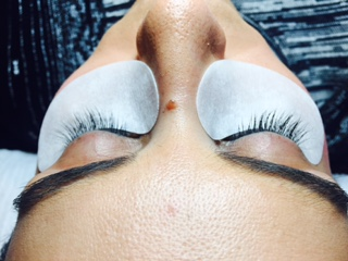 Before any lashes are applied.