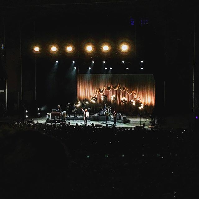A lovely Saturday night in the hood. @foresthillsstadium #nathanielrateliffandthenightsweats #queensnyc #foresthills #foresthillstennisstadium #nightmusic