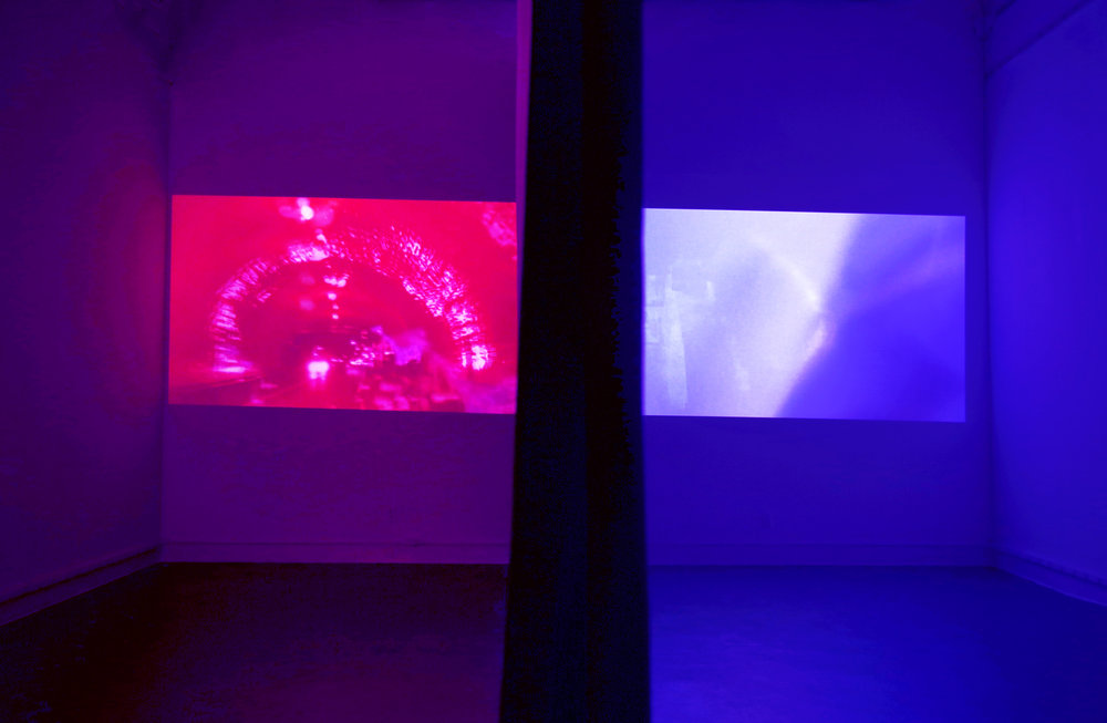 Installation View  Videos : Ethanol and Introspection Chamber, Qualia 2017
