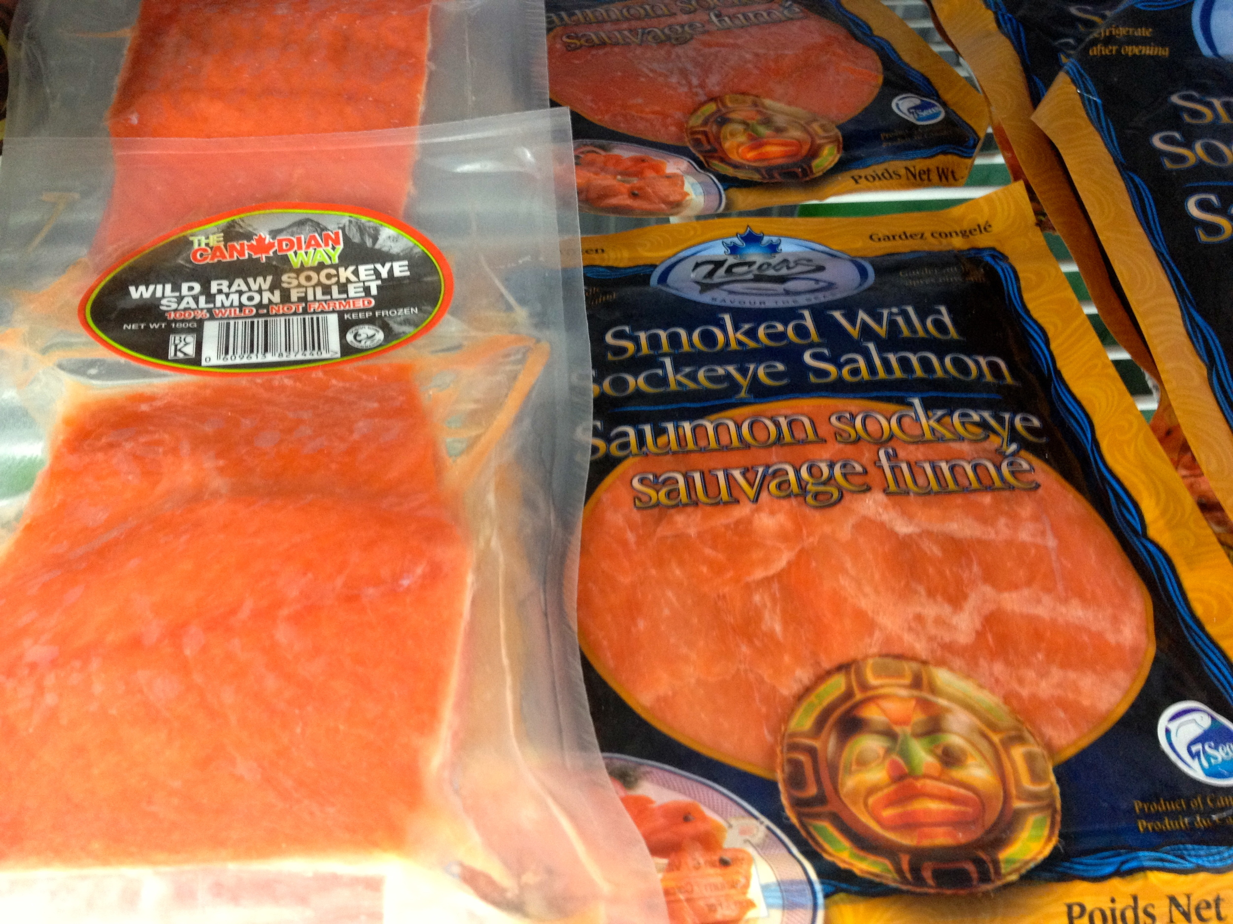 Raw and smoked wild salmon from The Canadian Way