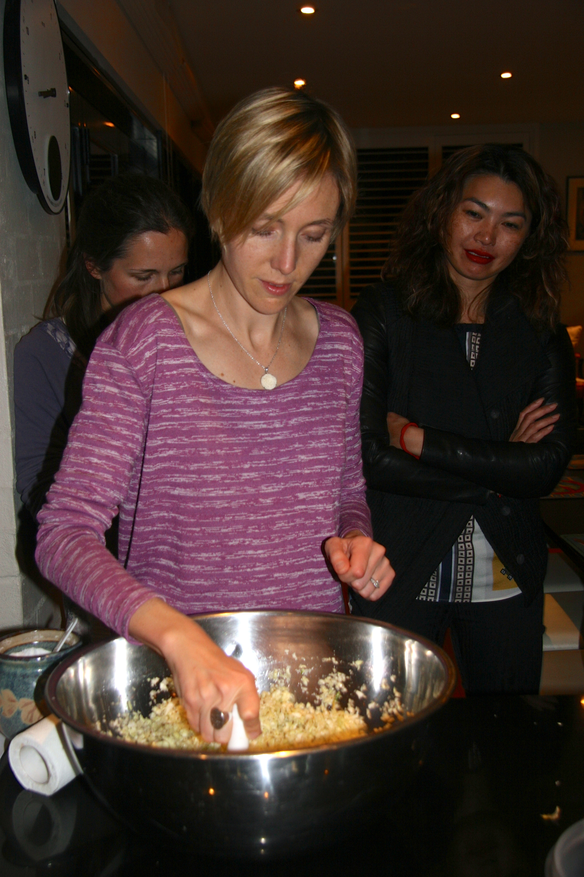Sara at kraut making workshop