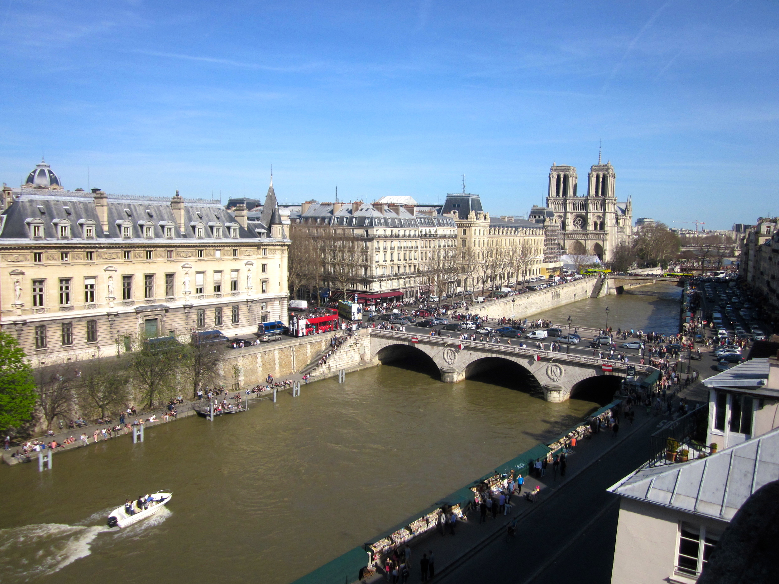 view of central Paris from our apartment