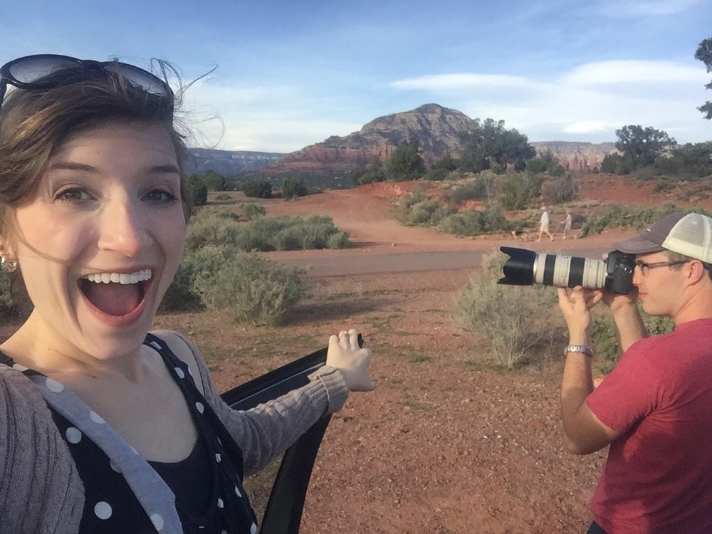 First day in Sedona on our honeymoon!