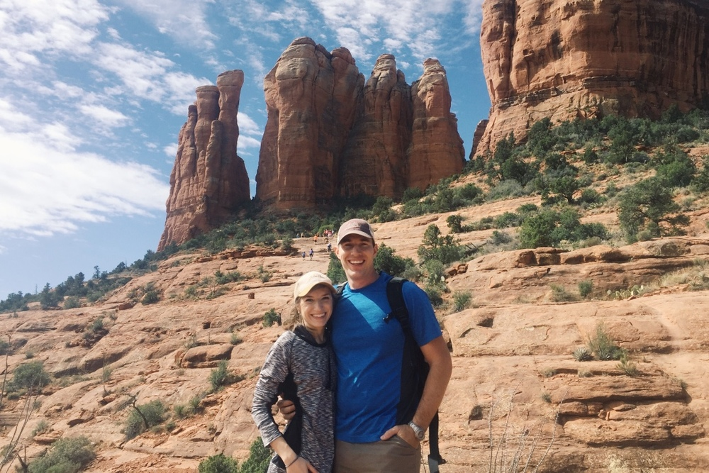 Cathedral Rock, Sedona, Arizona. First full day of our honeymoon! What a hike!