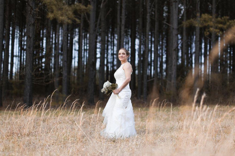 Bridal Shoot in a field