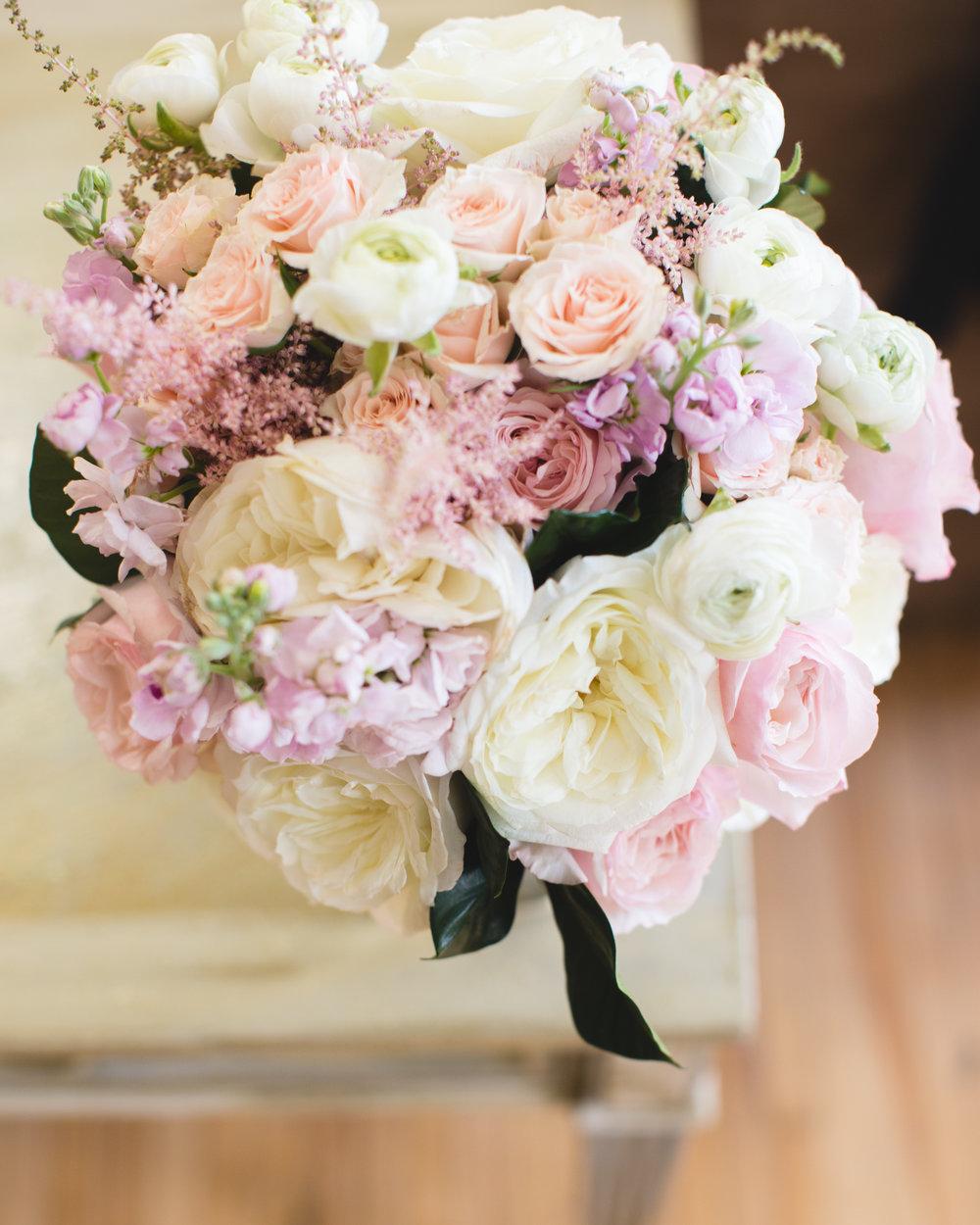 blush bridal bouquet Jon Courville Photography