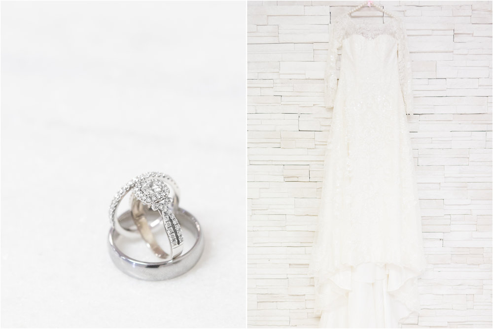 Wedding Rings and Gown