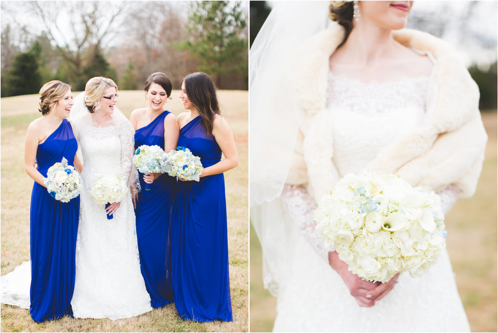 Winter Blue Wedding Bridesmaids