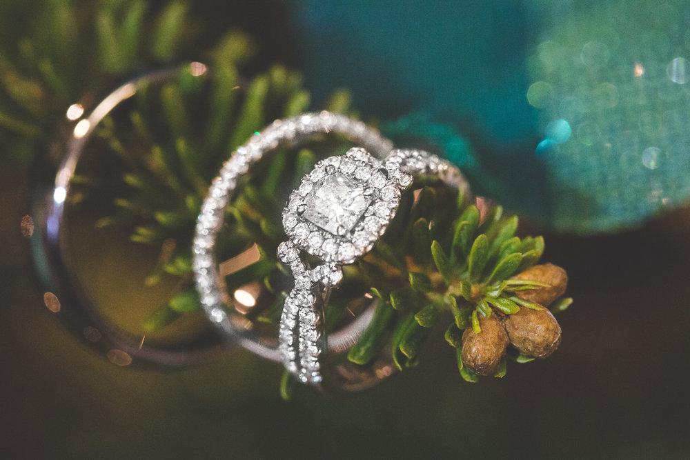 Wedding Rings on Christmas Tree