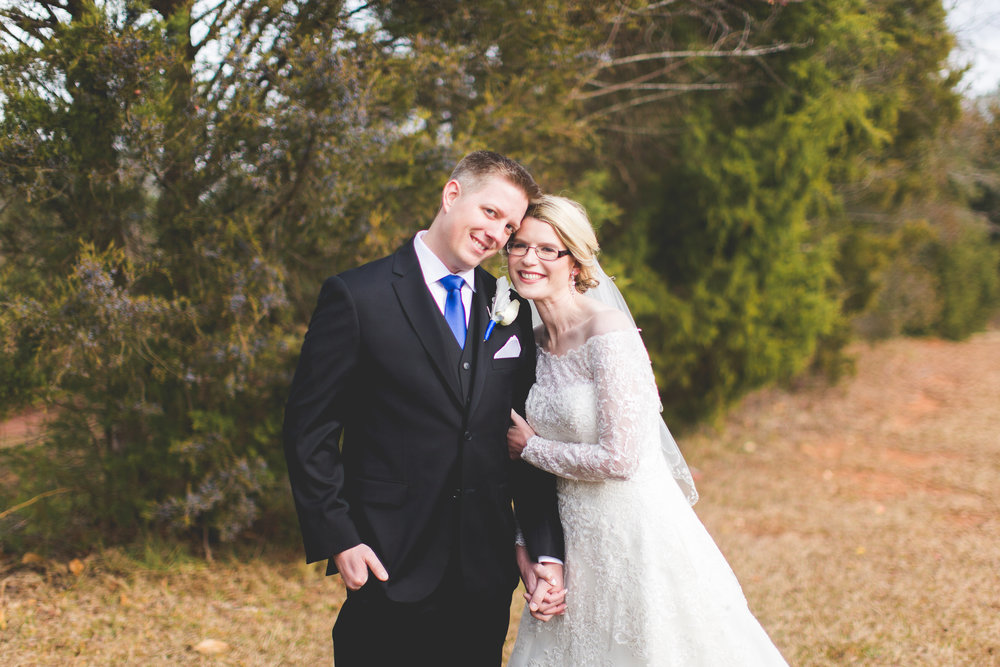 Bride and Groom Winter Portraits