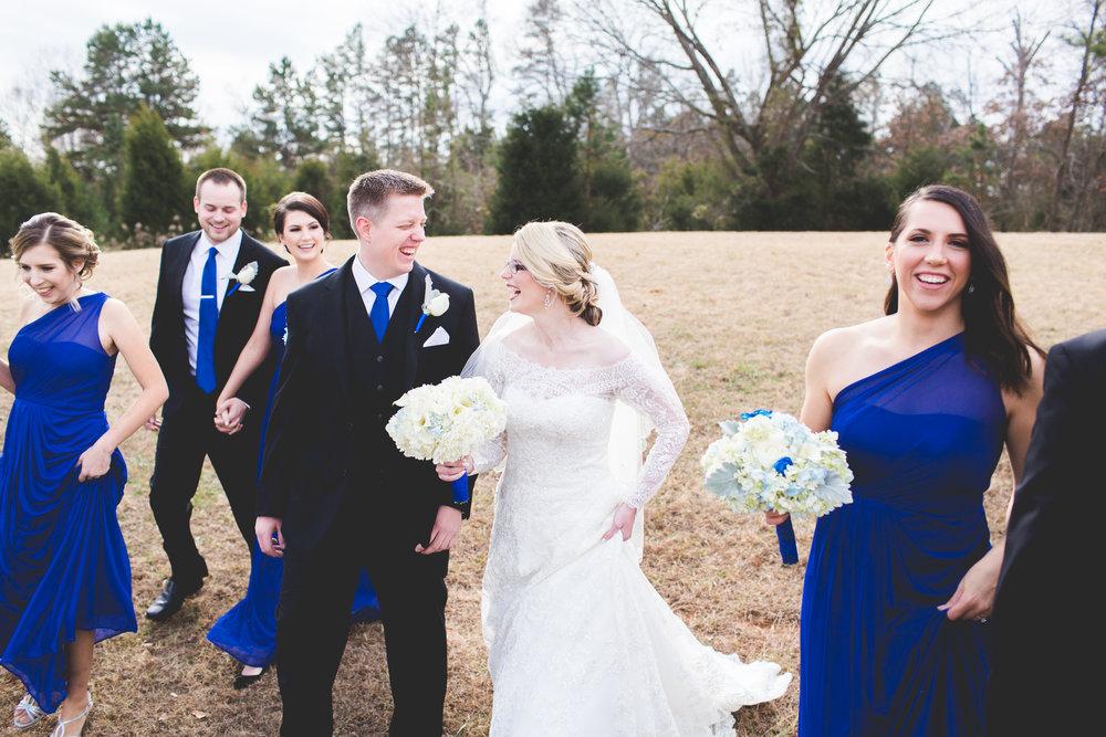 Winter Wedding Party Photos