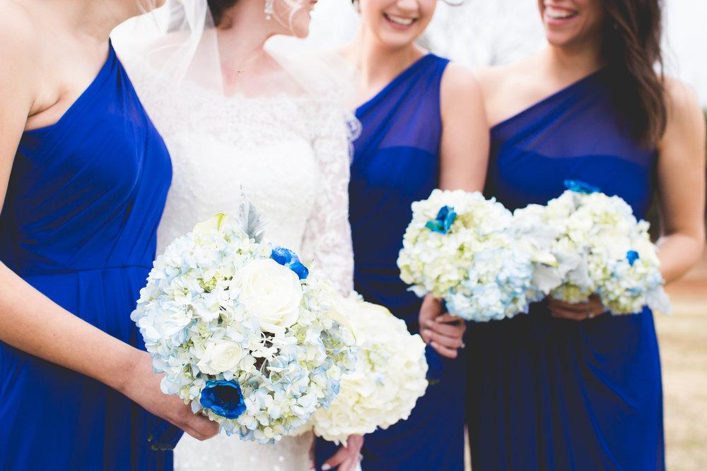 Royal Blue Winter Bridesmaids