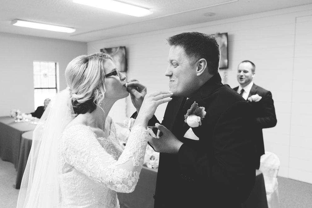 Wedding Cake in the face