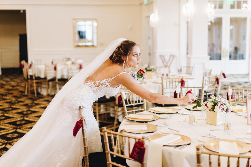 Fun bride reception photo