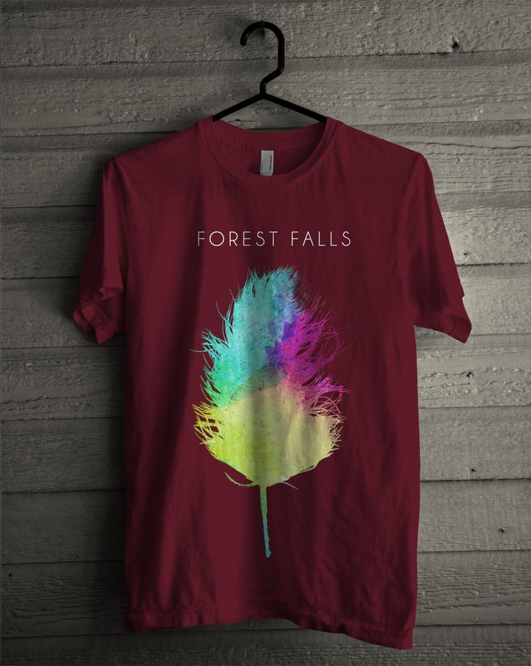 Maroon FF Logo T-Shirt